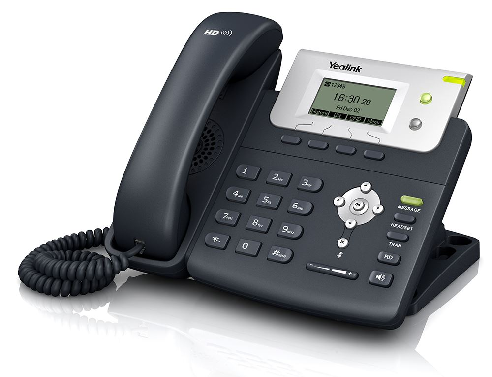 A picture of a Yealink T21P IP Handset