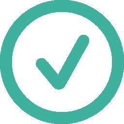 Free Virtual Landlines Fibre activation represented in a green circular icon with a checkmark in the center