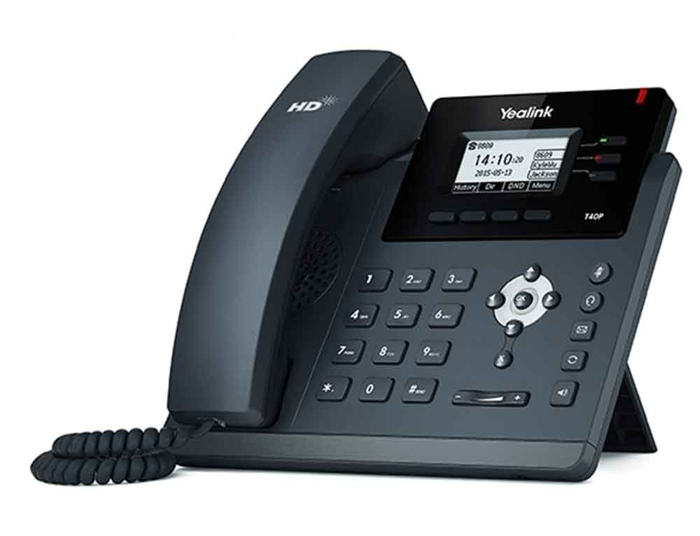 A picture of a Yealink T40P IP Handset