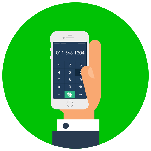 Green Mobile Landline Icon illustration